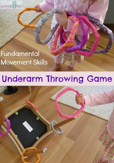 Fundamental Movement Skills - homemade underarm throwing game by learning 4 kids
