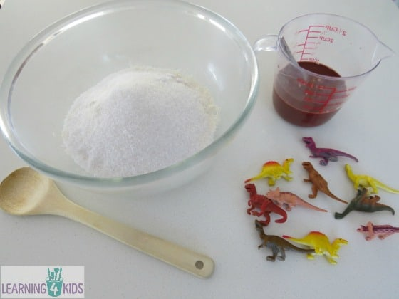 How to make dinosaur fossils - what you will need