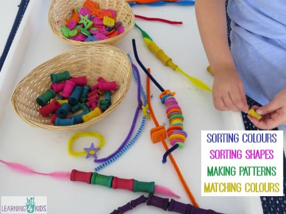 So many ways to play with threading pipe cleaners