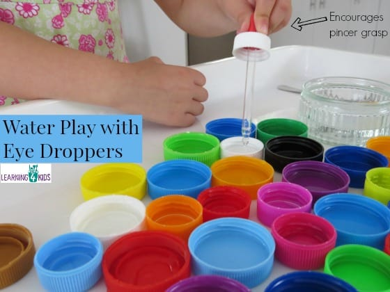 Water Play With Eye Droppers Learning 4 Kids