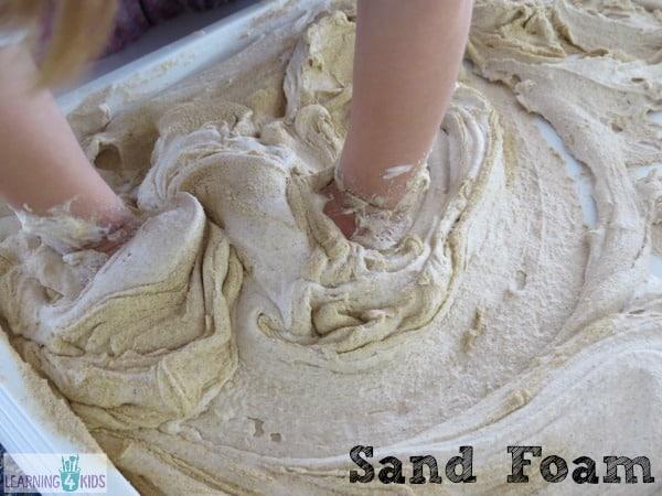 sand foam for sensory play experiences