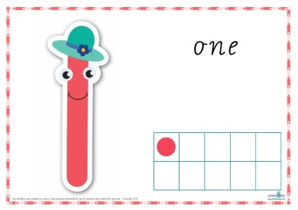 Printable Play dough Mat Number 1