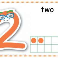 Number 2 Printable Play Dough Mat