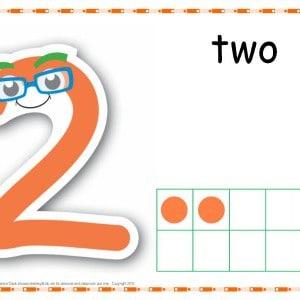 Number 2 Printable Play Dough Mat