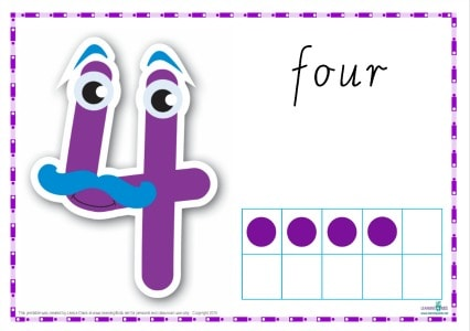 Printable Play dough Mat Number 4
