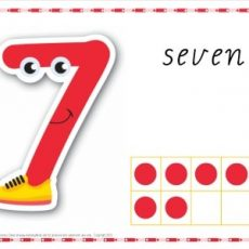 Printable Play dough Mat Number 7