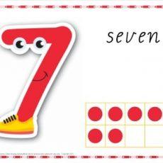 Printable Play dough Mat Number 7