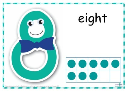 Number 8 Printable Play Dough Mat