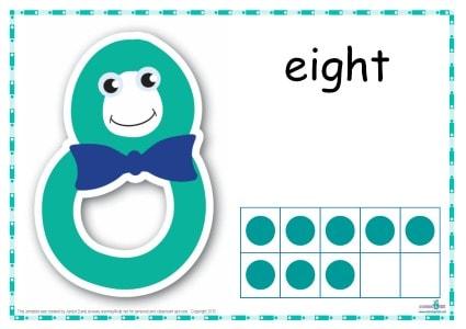 Number 8 Printable Play Dough Mat