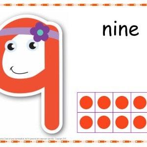 Number 9 Printable Play Dough Mat