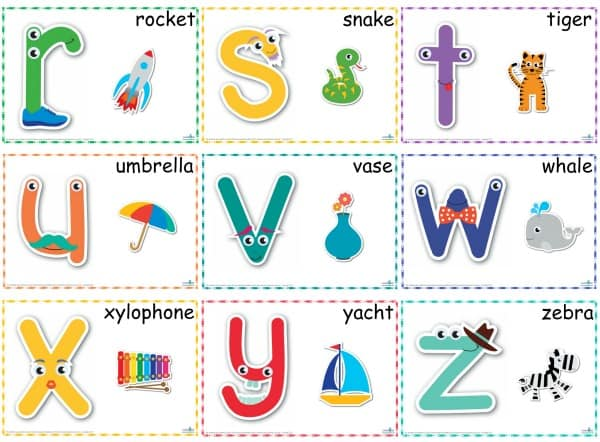 Alphabet PLay Dough Mats r-z 600