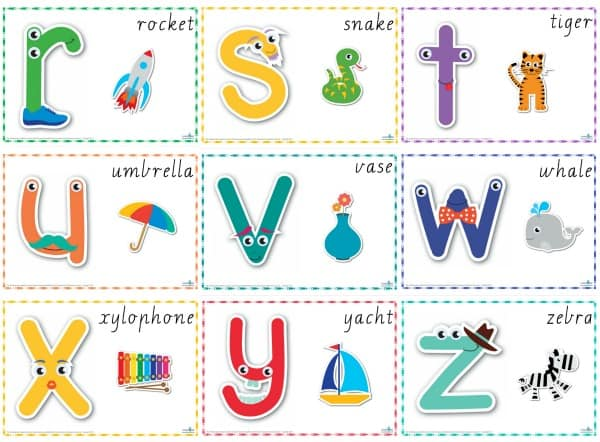 Alphabet Play Dough Mats Cursive r-z