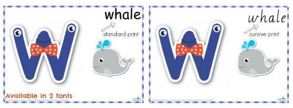 Alphabet Play Dough Mats available in two fonts standard and cursive print
