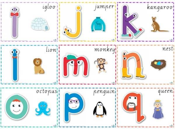 Alphabet Play dough Mats Cursive i-q