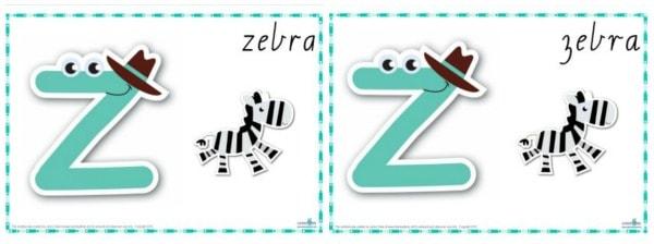 Alternative letter z in cursive font