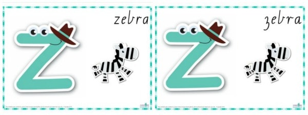 Alternative letter z in cursive font