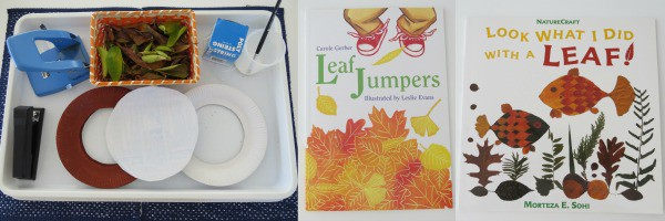 Books with leaves - autumn craft