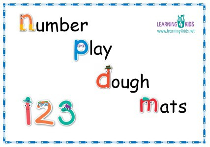 Number Play dough Mats - Cursive Print