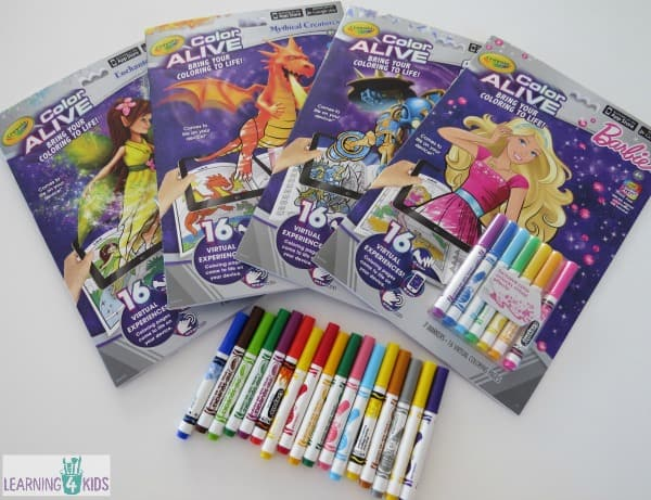 Crayola color Alive Colouring in Books
