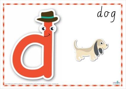 Alphabet Play Dough Mat Letter D