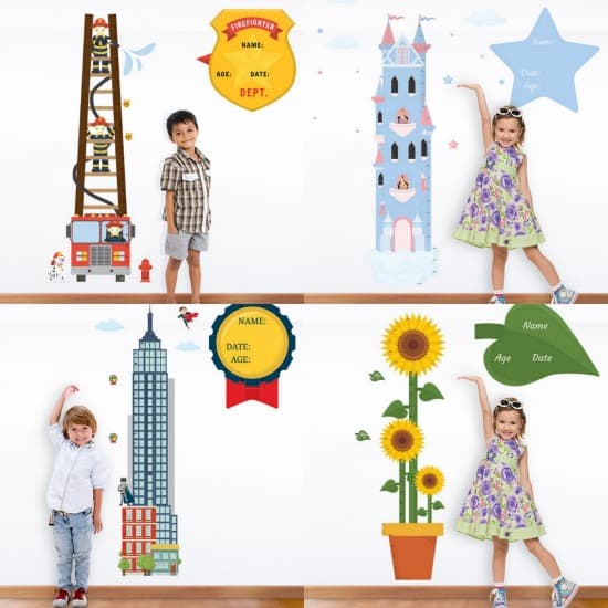 Hippo Blue Height Charts Collage
