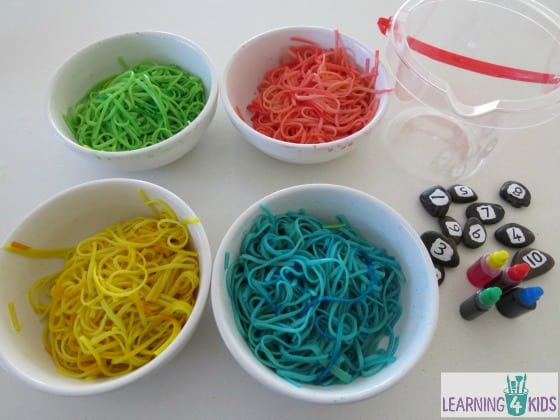 How to colour  color spaghetti