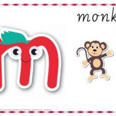 Alphabet Play Dough Mat Letter M