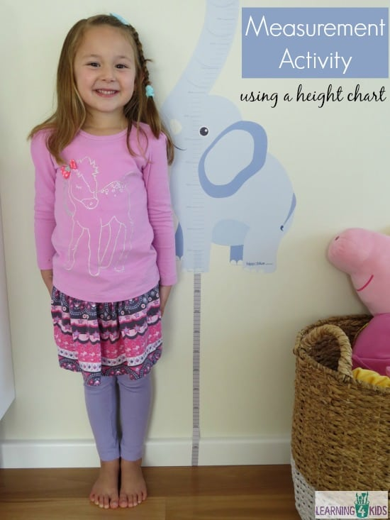 Measurement Activity using a height chart