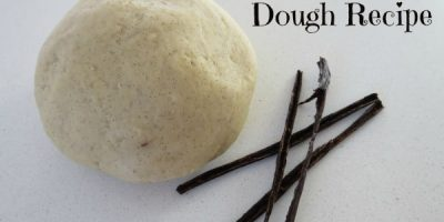Multi-sensory play dough with vanilla scented play dough recipe