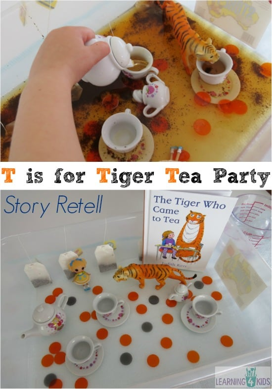 Multi-sensory story retell - t is for tiger who came for tea