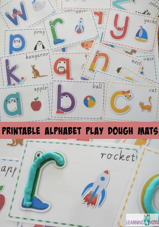 Printable Alphabet Play Dough Mats
