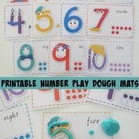 Printable Number Play Dough Mats