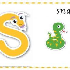Alphabet Play Dough Mat Letter S