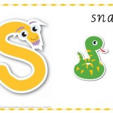 Alphabet Play Dough Mat Letter S