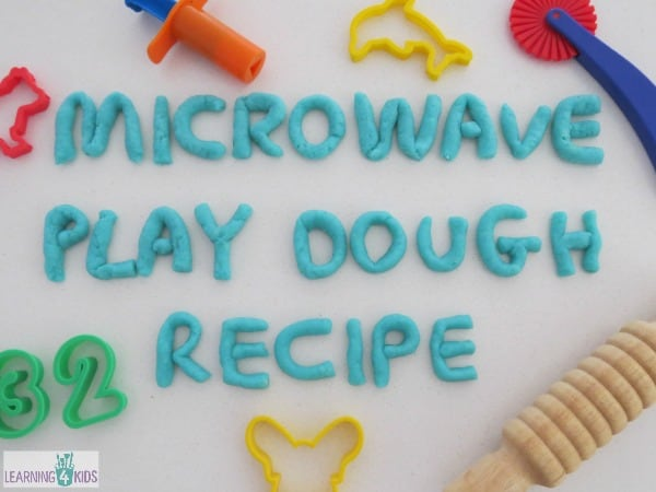Super Easy Microwave Play Dough Recipe