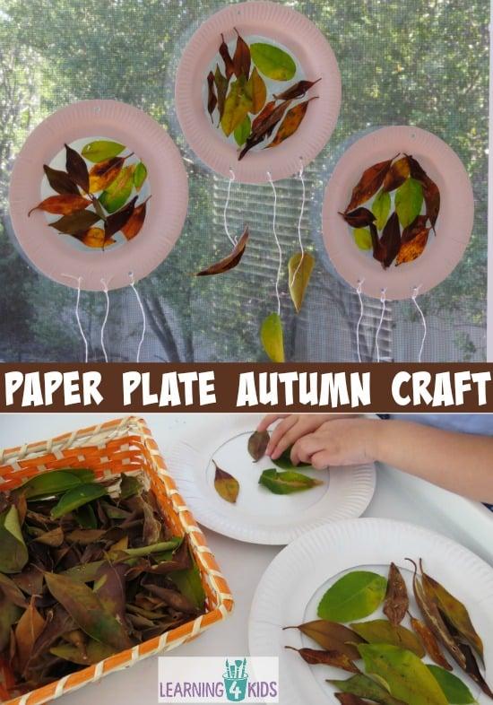 Super simple paper plate autumn craft