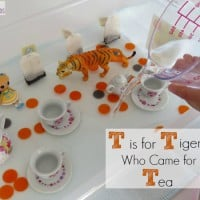 T is for Tiger who came for Tea - a story retell of this favourite book in a mulit-sensory way