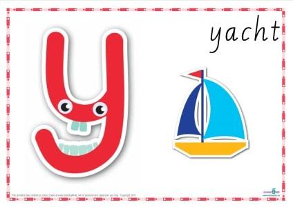 Alphabet Play Dough Mat Letter Y