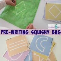 free Printable Flip Book to use with Pre-writing squishy bag