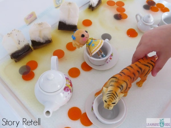 story retell - the tiger who came for tea