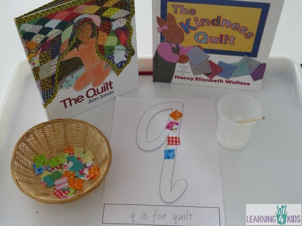Great books for teaching the letter Q - quilting