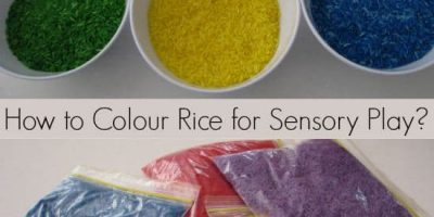 How to colour rice for sensory play - a simple and quick step by step guide with photos