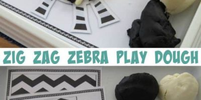 Letter Z Activity - zig zag zebra play dough fun with 3 free printable play dough mats