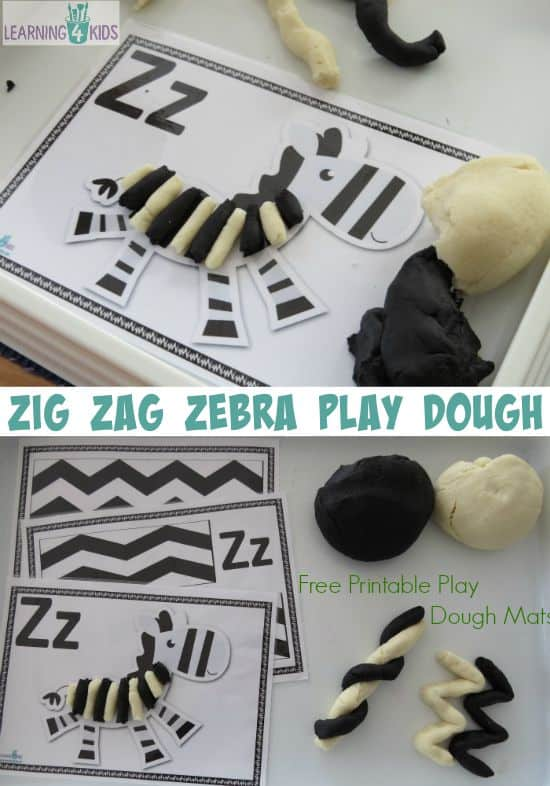 Zig Zag Zebra Play Dough Learning 4 Kids