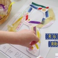 R is for Ribbons - letter r activity with free printable