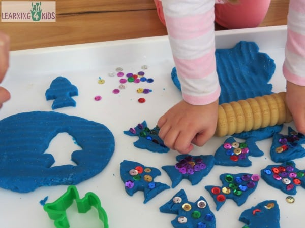 The rainbow fish play dough activity learning 4 kids for Rainbow fish activities