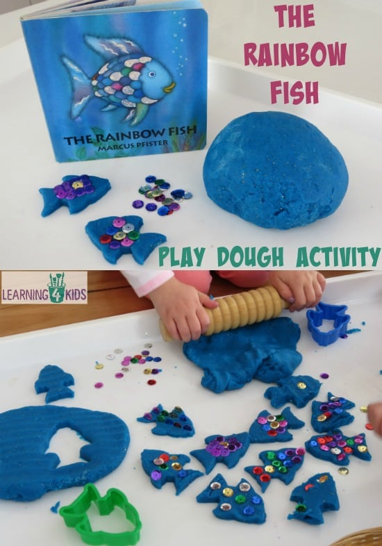 The rainbow fish play dough activity learning 4 kids for The rainbow fish by marcus pfister