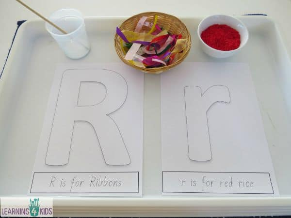 invitation to make r with ribbons and r with rice