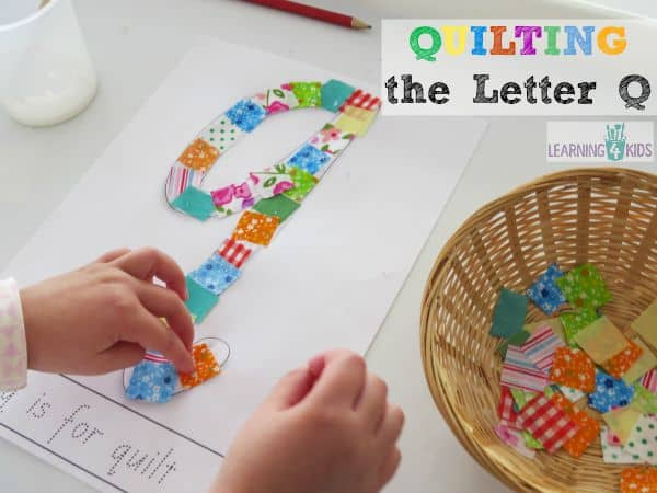 letter q activity - quilting the letter q