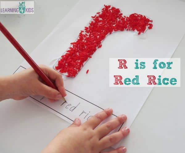 r is for red rice - letter r activity